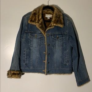 Marvin Richards Jean Jacket with Faux Fur